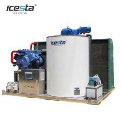 Máquina de gelo industrial de 10 t totalmente em aço inoxidável para Processamento de alimentos