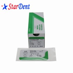 Estériles desechables médicos suturas quirúrgicas absorbibles suturas de seda dental no