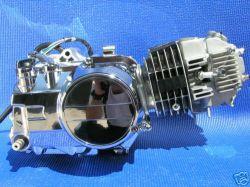 Tipo horizontal 125cc motor motocicleta com dois tempos de cilindro único