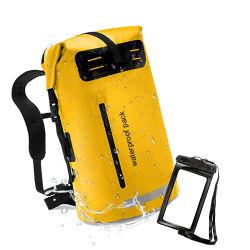 Logo personalizzato Brand Escursionismo Camping galleggiante 500d esterno PVC impermeabile Zaino Wet Dry Bag