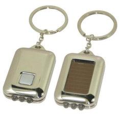 Outdoor Camping Solar Powered wiederaufladbare Taschenlampe Schlüsselkette für die Förderung Geschenke