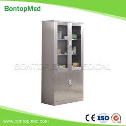 Krankenhaus Edelstahl Instrument Cabinet Glasse Metal Medicine Cabinet Medical Schrank Aktenschrank OEM