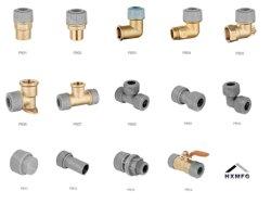 Gama completa de Acessórios Pushit, Conexão de compressão, Conexão Rápida, pressione a montagem, conexão de crimpagem para tubo de plástico e Tubo de Cobre