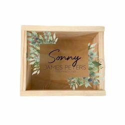 غطاء منزلق أكريليك صناديق شاشة خشبية صغيرة مع زجاج شفاف نافذة