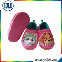 Очаровательный розовый собака детей домашняя обувь детской мягкой детский дом обувь для установки внутри помещений