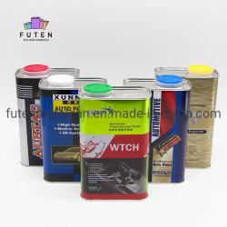 Оптовая торговля 1L пустые квадратные смазочное масло Тин Тин моторного масла может