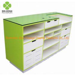 Personaliza los muebles de madera de cajero de supermercado minorista Contador Desk