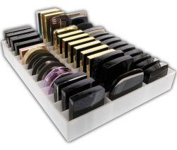 Eitelkeits-Acrylplexiglas-Fach-Organisator-Verfassungs-Teiler-Tellersegment-Speicher für Kosmetik-Verträge