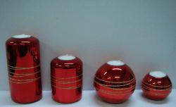 クリスマスのガラス蝋燭ホールダー(NC-3039A)