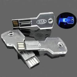 Os mais recentes produtos chave transparente Unidade Flash USB de 8 GB 4 GB