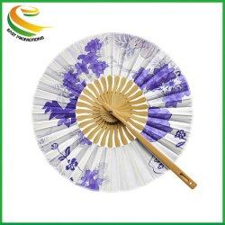 Moulin à Vent de bambou ventilateur chiffon bambou ronde Ventilateur de gros de haute qualité