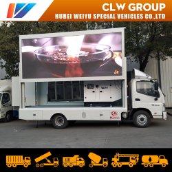 Van de Mobiele LEIDENE van Foton de Vertoning van het Aanplakbord Vrachtwagen van het Scherm voor de Openlucht Reclame van de Weg