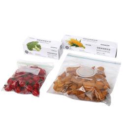 Sac à fermeture à glissière réutilisables en plastique durable pour l'alimentation