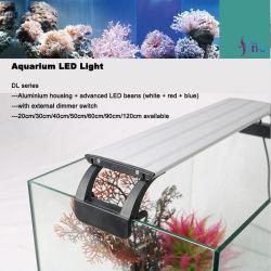 O crescimento de plantas de aquário Lâmpada de luz LED com reóstato com fio