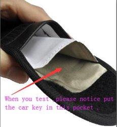 حقيبة مفاتيح حجب الهاتف ذات الطبقتين حقيبة مفاتيح جلدية مفتاح السيارة حقيبة محفظة رجال