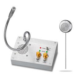 Teléfono de escritorio de acero inoxidable análogo de la ventana del Banco de intercomunicación Sistema Intercom