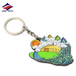 Longzhiyu 13 anni del fornitore della catena chiave del Rainbow della catena chiave di Keychain di ricordo di ceramica su ordinazione del metallo