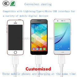 3 in 1 het Laden van de Kabel USB Snelle van de Lijn Kabel van usb- Gegevens Mobiele Telefoon de Bijkomende Toebehoren van de Telefoon van de Cel