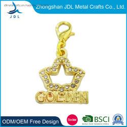 La joyería de moda regalos promocionales de metal de acero inoxidable encanto (01)