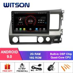 Speler van 9.0 Auto DVD van de Kern van de Vierling van Witson de Androïde voor Honda Civic (RHD) 2006-2011