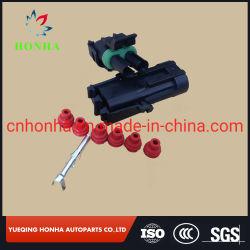 Авто 1,5 мм 2 контактный электрический провод Водонепроницаемый кабель из комплекта разъема