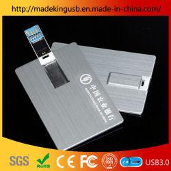 Business/tarjeta de crédito de 16 GB USB Llave de Metal Pen Drive USB Flash Driver
