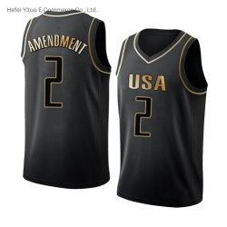 Völlig Basketball-Kleid der Drucken-kundenspezifisches Markenname-Zahl-zweite der Änderungs-Nr. 2