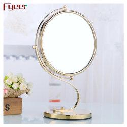 Fyeer cuarto de baño de lujo más reciente de la tabla de oro espejo cosmético con la ampliación