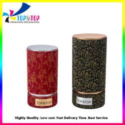 Vacances de Noël Les boîtes de papier cadeau ronde tube cylindrique cosmétique Emballage