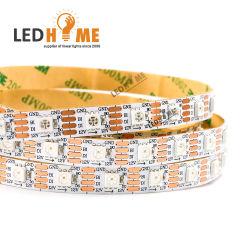 DMX512 совместим 12V 14,4 W 60 пикселей цифровые цветные полосы RGB с 60 IC встроенный 60 светодиодов
