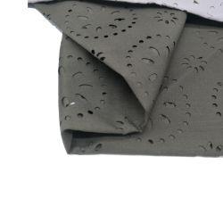 Tecido de poliéster acetinado de seda de perfuração para roupa