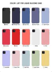Nouveau téléphone accessoires pour iPhone11 Housse en silicone coloré