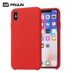 Téléphone mobile de silicone liquide doux Étui pour iPhone X/Xs Xr Max 11