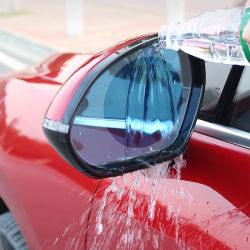 2PCS Nano Carro de Revestimento Anti Rainproof Nevoeiro Janela Retrovisor Película Protetora