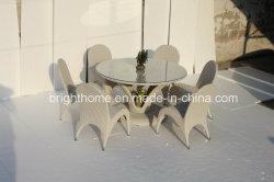 PE het Dineren van de Rotan het Rieten Vastgestelde/Hand-Woven Meubilair van de Tuin Furniture/Outdoor (bp-3037)
