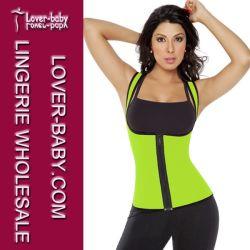 Mujer Latex Gimnasio Instructor de la cintura La cintura de desgaste Cincher (L42659-5)