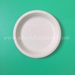 La canne à sucre jetable biodégradable la plaque de pâte à papier, plaque ronde