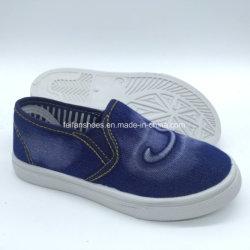 Schoenen van de Tennisschoenen van het Canvas van de Jeans van de Kinderen van de manier de Toevallige Vlakke (hh18422-1)