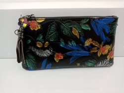 Echtes Leder-Dame-Handtaschen mit Blumen-förderndem kleinem Beutel (WDL0420)
