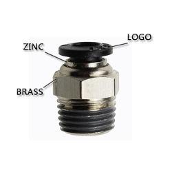 Raccord pneumatique de la ligne de l'air hautes performances avec bouton noir (PC 16-06)