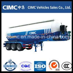 Cimc Tri-Axle de ciment en vrac de la poudre de transporteur de ciment en vrac pétrolier de ciment de remorque