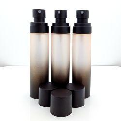 100ml Gradient sablage au jet de peinture noire en plastique produit bidon de toner pour soins de la peau du visage