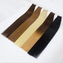 Comercio al por mayor No derramar el doble de dibujado Remy cabello humano sin fisuras en la cinta invisible sobre el cabello extensiones de trama