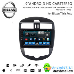 Huit coeurs Vshauto Android 8.1 Voiture radio DVD pour Nissan Tiida auto