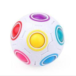 De nouveaux produits en vrac de tendances Amazon forme personnalisée de promotion de gros logo imprimé complet de stress Le stress du cerveau Rainbow ball balle
