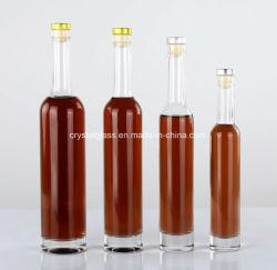 زجاجة ثلج زجاجية صافية دائرية فارغة من النبيذ أواني زجاجية 250/375/500/700 مل