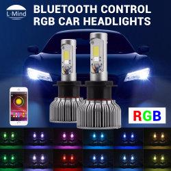 Commerce de gros 2 en 1 Best RVB blanc 7200lm Mercedes-Benz voiture BMW H7 Kit de Projecteur à LED