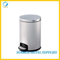 5L de lixo em aço inoxidável descole Bin para quarto de hotel