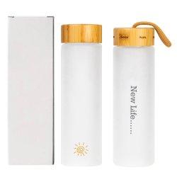 Direcionar a água potável garrafa de vidro borossilicato fosco 550ml com Tea Infuser