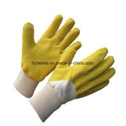 Doublure en coton Latex de la moitié de feux de croisement de la sécurité des gants de travail